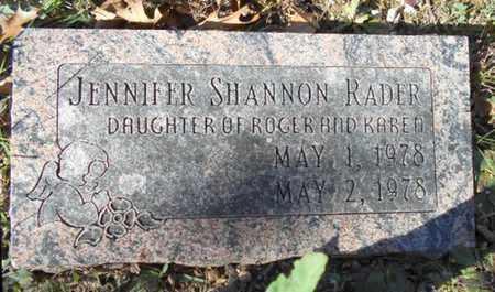 RADER, JENNIFER SHANNON - Texas County, Missouri | JENNIFER SHANNON RADER - Missouri Gravestone Photos
