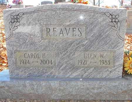 REAVES, GLEN W. - Texas County, Missouri | GLEN W. REAVES - Missouri Gravestone Photos