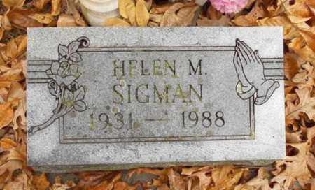 SIGMAN, HELEN M. - Texas County, Missouri | HELEN M. SIGMAN - Missouri Gravestone Photos
