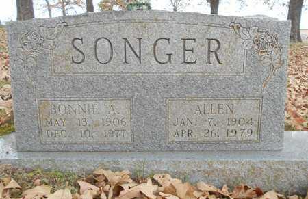 SONGER, ALLEN - Texas County, Missouri | ALLEN SONGER - Missouri Gravestone Photos