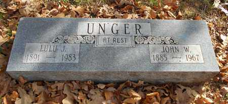 MARTIN UNGER, LULU JANE - Texas County, Missouri | LULU JANE MARTIN UNGER - Missouri Gravestone Photos