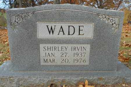 IRVIN WADE, SHIRLEY - Texas County, Missouri | SHIRLEY IRVIN WADE - Missouri Gravestone Photos