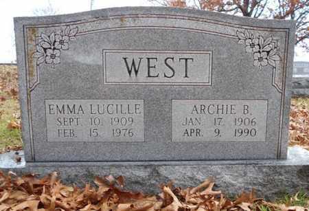 WEST, EMMA LUCILLE - Texas County, Missouri | EMMA LUCILLE WEST - Missouri Gravestone Photos