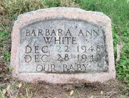 WHITE, BARBARA ANN - Texas County, Missouri | BARBARA ANN WHITE - Missouri Gravestone Photos