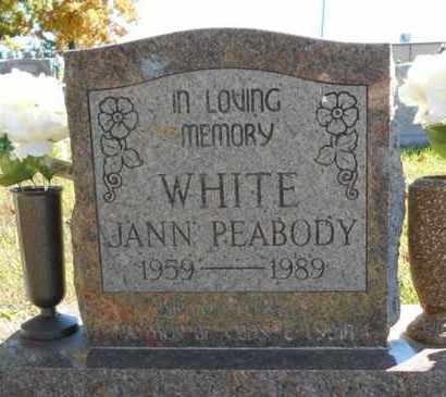 WHITE, JANN - Texas County, Missouri | JANN WHITE - Missouri Gravestone Photos