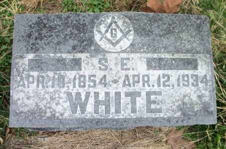 WHITE, SAMUEL EDWARD - Texas County, Missouri   SAMUEL EDWARD WHITE - Missouri Gravestone Photos
