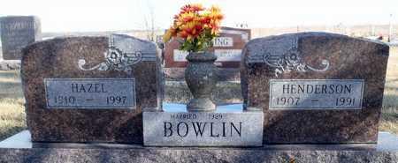 BOWLIN, HAZEL - Worth County, Missouri   HAZEL BOWLIN - Missouri Gravestone Photos