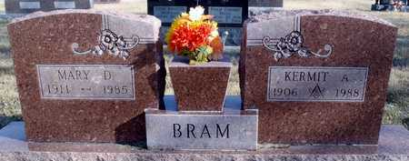 BRAM, KERMIT A. - Worth County, Missouri | KERMIT A. BRAM - Missouri Gravestone Photos