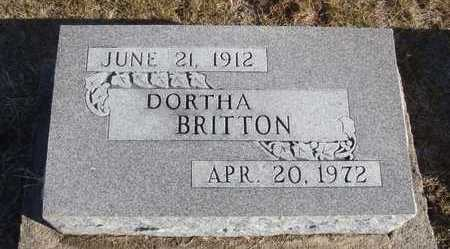 BRITTON, DORTHA - Worth County, Missouri   DORTHA BRITTON - Missouri Gravestone Photos