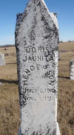 HENDERSON, DORIS JAUNITA - Worth County, Missouri | DORIS JAUNITA HENDERSON - Missouri Gravestone Photos