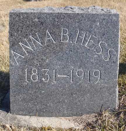 HESS, ANNA BARBARA - Worth County, Missouri | ANNA BARBARA HESS - Missouri Gravestone Photos