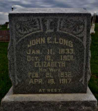 BURNS LONG, ELIZABETH - Worth County, Missouri | ELIZABETH BURNS LONG - Missouri Gravestone Photos