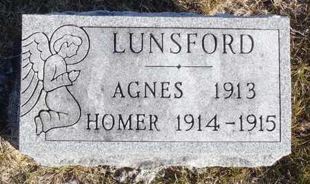 LUNSFORD, AGNES - Worth County, Missouri | AGNES LUNSFORD - Missouri Gravestone Photos