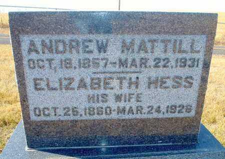 MATTILL, ANDREW - Worth County, Missouri   ANDREW MATTILL - Missouri Gravestone Photos