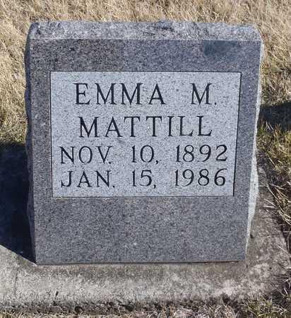 MATTILL, EMMA M. - Worth County, Missouri   EMMA M. MATTILL - Missouri Gravestone Photos