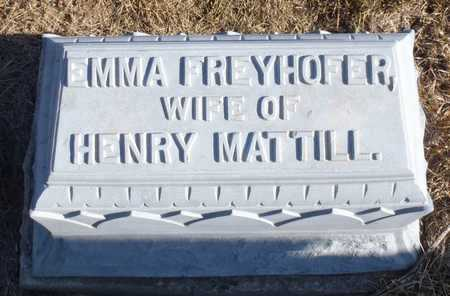 FREYHOFFER MATTILL, EMMA - Worth County, Missouri | EMMA FREYHOFFER MATTILL - Missouri Gravestone Photos