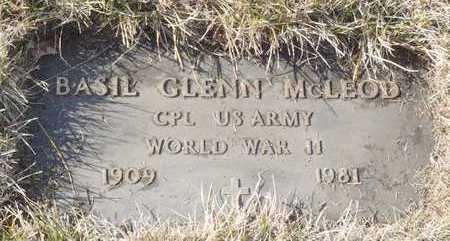 MCLEOD, BASIL GLENN WW II VETERAN - Worth County, Missouri | BASIL GLENN WW II VETERAN MCLEOD - Missouri Gravestone Photos