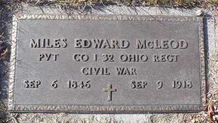 MCLEOD, EDWARD MILES  VETERAN CIVIL WAR - Worth County, Missouri | EDWARD MILES  VETERAN CIVIL WAR MCLEOD - Missouri Gravestone Photos