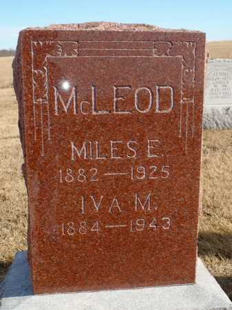MCLEOD, MILES E. - Worth County, Missouri | MILES E. MCLEOD - Missouri Gravestone Photos