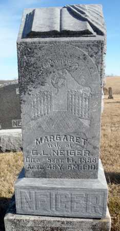 NEIGER, MARGARET - Worth County, Missouri | MARGARET NEIGER - Missouri Gravestone Photos