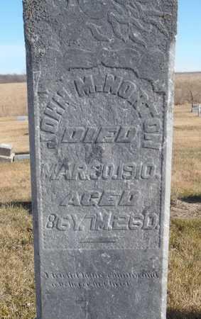 NORTON, JOHN M. - Worth County, Missouri   JOHN M. NORTON - Missouri Gravestone Photos