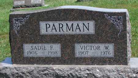 PARMAN, VICTOR W. - Worth County, Missouri | VICTOR W. PARMAN - Missouri Gravestone Photos