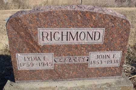 RICHMOND, JOHN FRANCIS - Worth County, Missouri | JOHN FRANCIS RICHMOND - Missouri Gravestone Photos