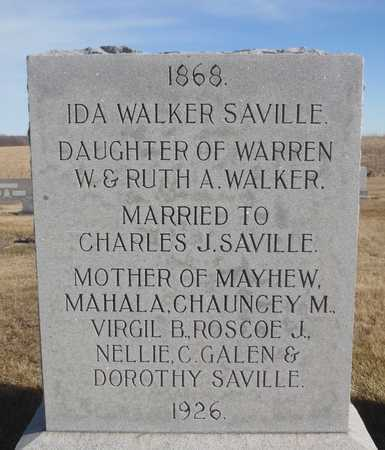 SAVILLE, IDA - Worth County, Missouri | IDA SAVILLE - Missouri Gravestone Photos