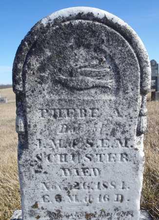 SCHUSTER, PHEBE A. - Worth County, Missouri | PHEBE A. SCHUSTER - Missouri Gravestone Photos