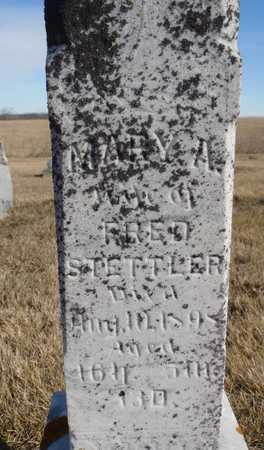 COLE STETTLER, MARY A. - Worth County, Missouri | MARY A. COLE STETTLER - Missouri Gravestone Photos