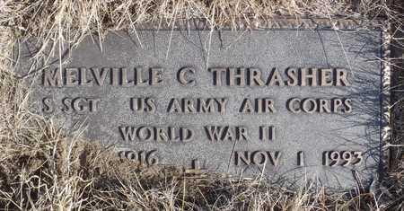 THRASHER, MELVILLE C. WWII VETERAN - Worth County, Missouri   MELVILLE C. WWII VETERAN THRASHER - Missouri Gravestone Photos