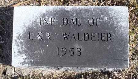 WALDEIER, INFANT DAUGHTER - Worth County, Missouri   INFANT DAUGHTER WALDEIER - Missouri Gravestone Photos