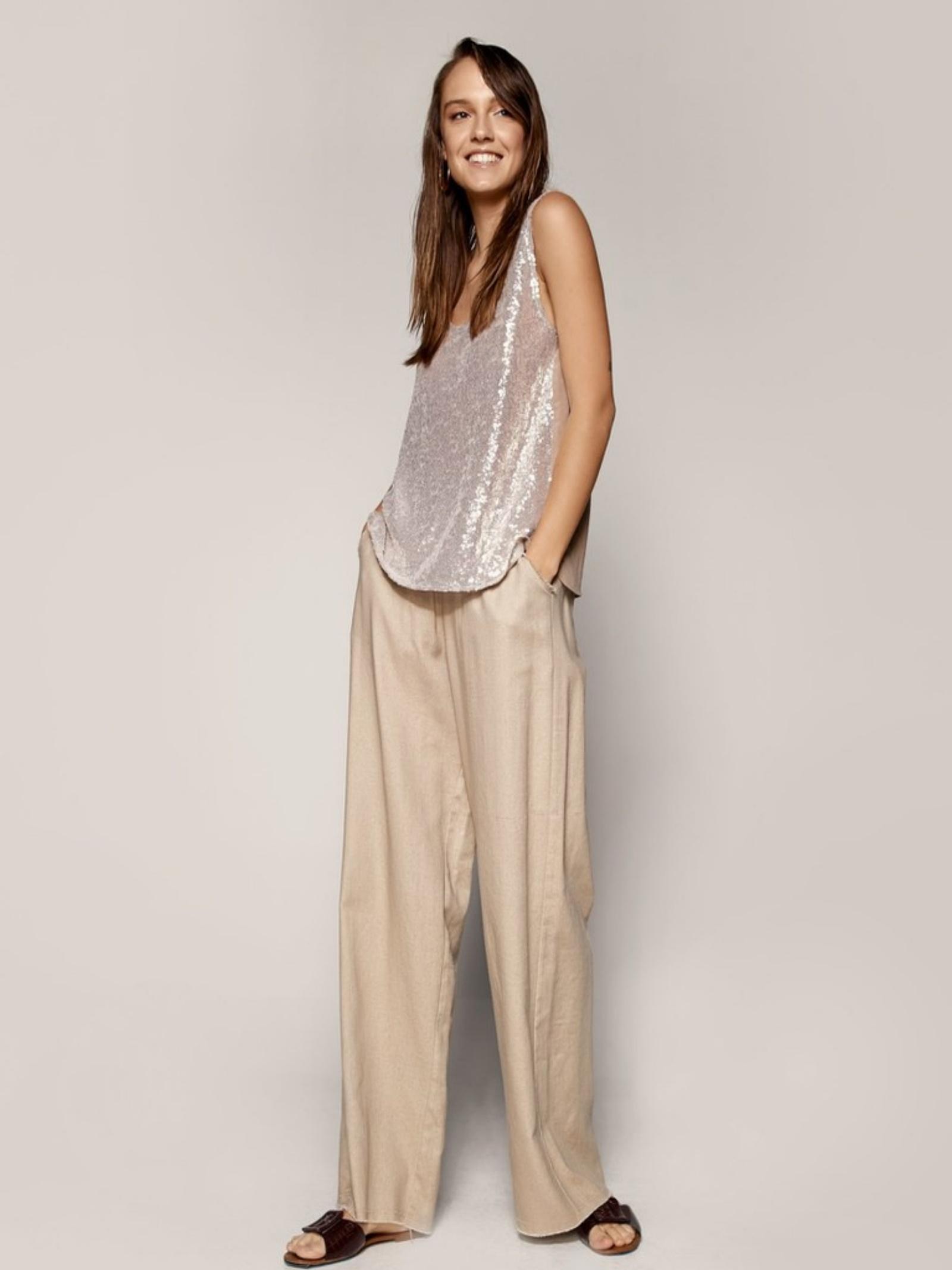 Blusa smanicata ACC ESS Fashion   Blusa   2065-119BEIGE