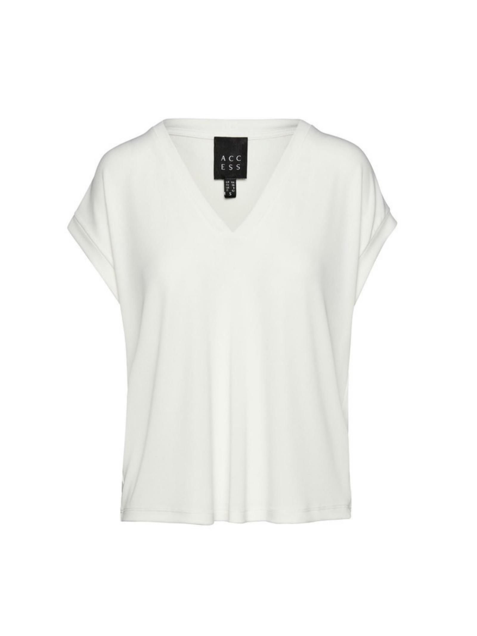 Blusa a maniche corte ACC ESS Fashion | Blusa | 2109-398OFF-WHITE