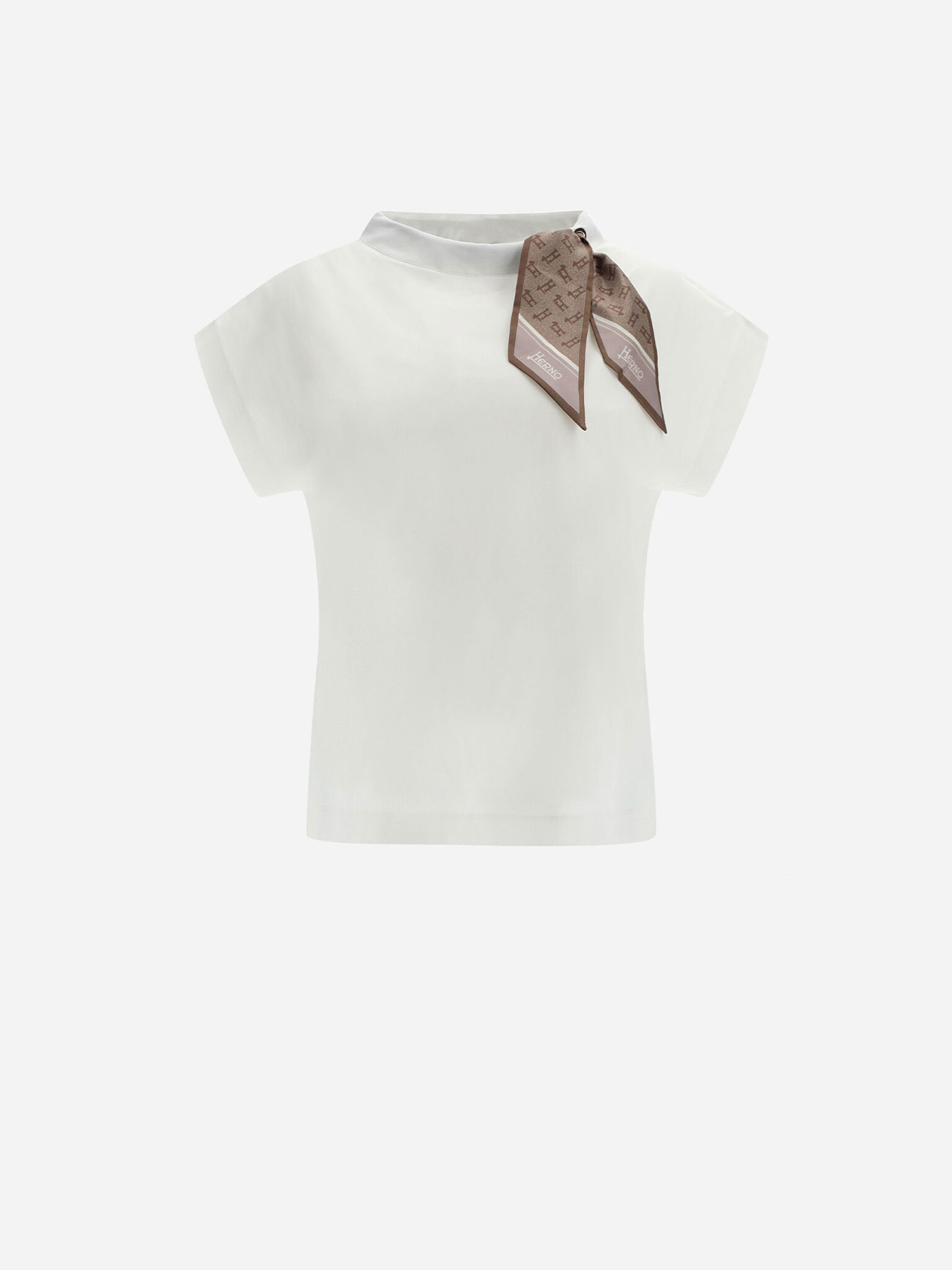 T-Shirt con foulard Herno | T-shirt | JG0015D-520031430