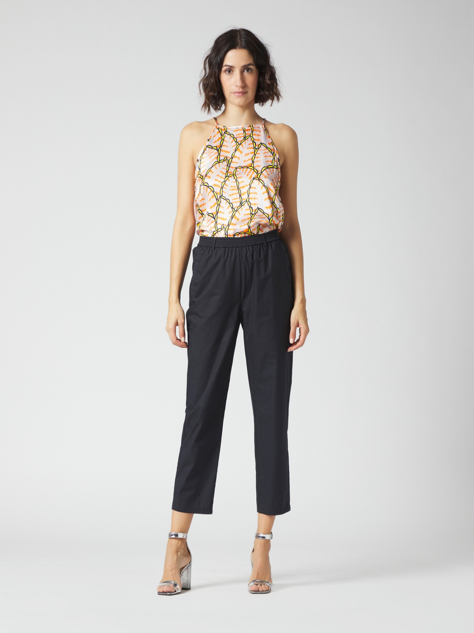 Pantaloni con elastico Manila Grace   Pantalone   P008CUMA001