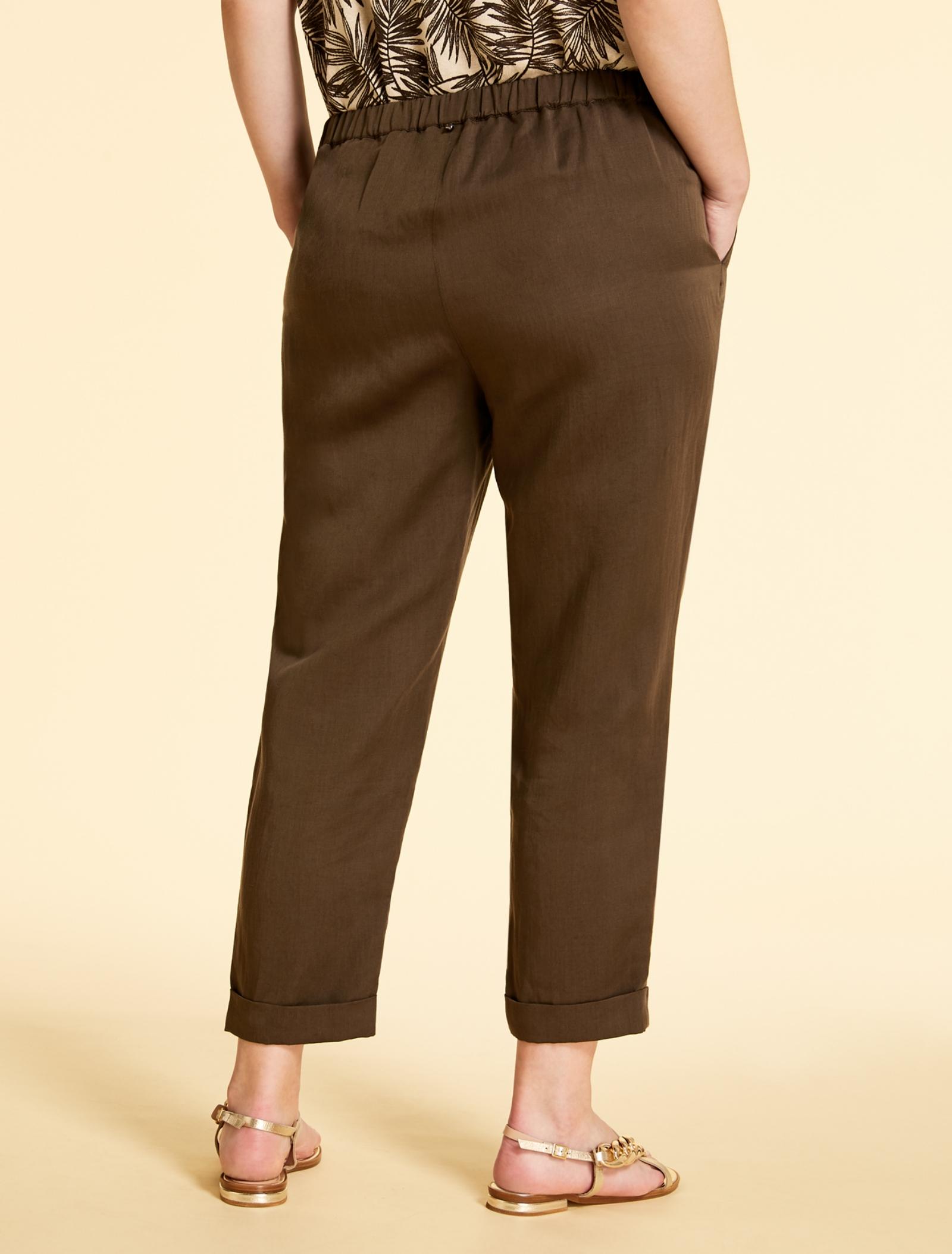 pantalone lungo in lino Marina Rinaldi Sport | Pantalone | RENDERE022