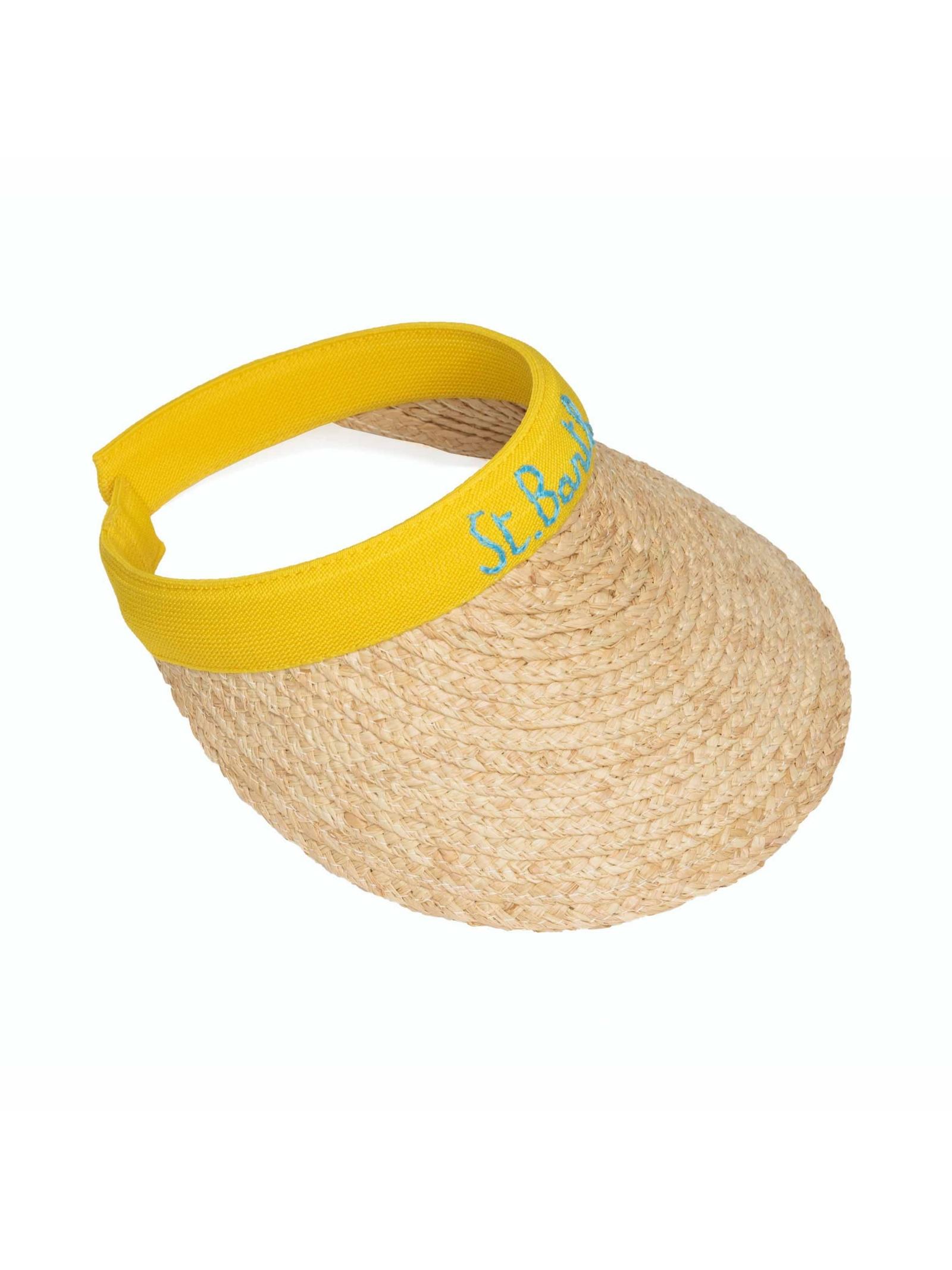 straw visor hat MC2 Saint Barth   Cappello   LEXI001SB9131