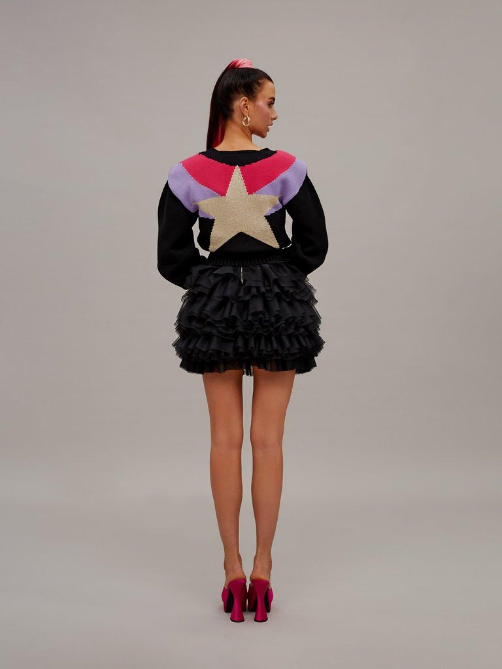 tulle mini dress Teen Idol | Gonna | 029454NERO