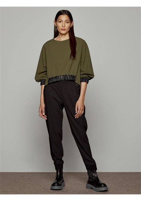 loose-fit bluse ACC ESS Fashion | Blusa | 2043-111OLIVE