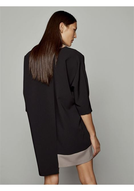 asymmetric combo dress ACC ESS Fashion | Abito | 3029-197BLACK