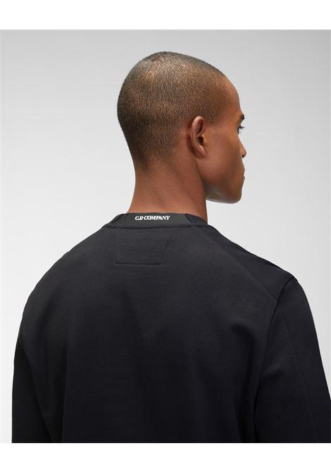 diagonal raised fleece sweatshirt C.P. Company | Felpa | 11CMSS055A-005086W999