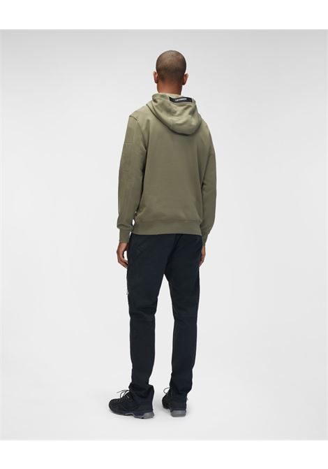 diagonal raised fleece hooded sweatshirt C.P. Company | Felpa | 11CMSS056A-005086W665