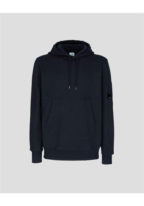 diagonal raised fleece hooded sweatshirt C.P. Company | Felpa | 11CMSS056A-005086W888