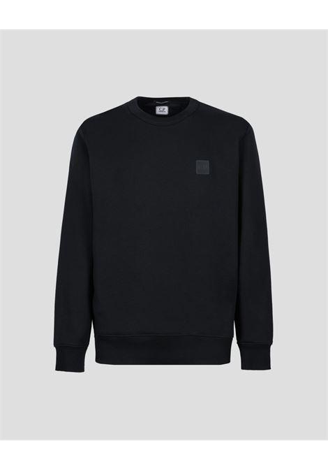 diagonal raised fleece crew neck sweatshirt C.P. Company | Felpa | 11CMSS221A-005086W999