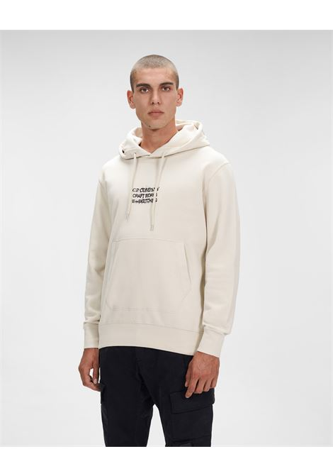 brushed fleece craftworks hoodie C.P. Company | Felpa | 11CMSS356A-005622W116