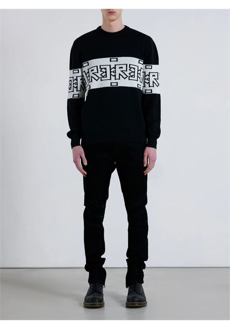 sweater britar John Richmond | Maglia | RMA21030MAMIBLACK/WHITE