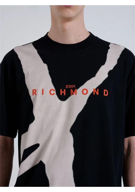 bigumia John Richmond | T-shirt | RMA21130TSA8BLACK/WHITE