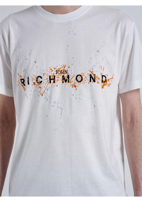 ilesandi John Richmond | T-shirt | RMA21132TSA8OFF-WHITE