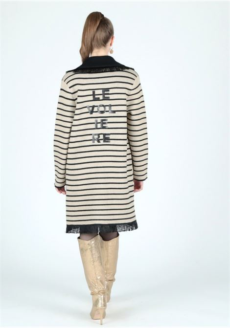 striped knitwear coat Le Volière | Cappotto | WW21C166SBEIGE